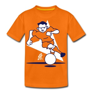 Oranje voetballer kindershirt - Teenager Premium T-shirt