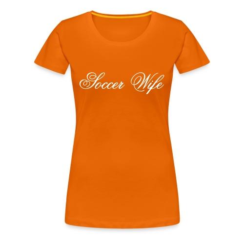 Soccer Wife, flex - Vrouwen Premium T-shirt
