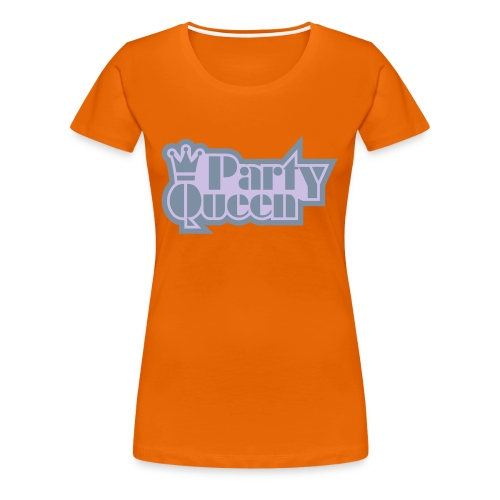 Party Queen - Glow-in-the-dark + Metallic zilver - Vrouwen Premium T-shirt