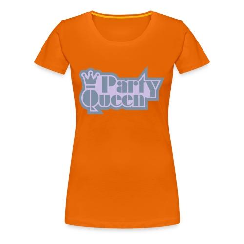 Party Queen - Glow-in-the-dark + Metallic zilver - Vrouwen Premium T-shirt