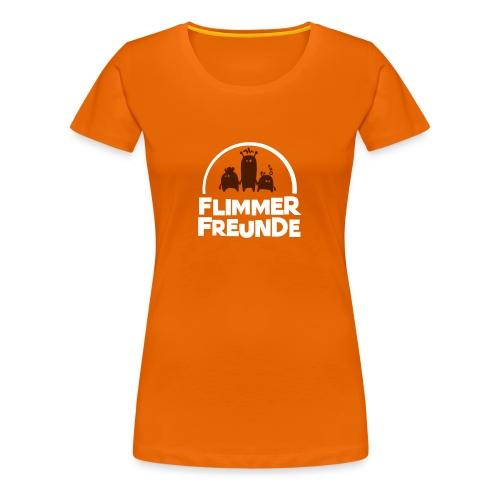 Frauen Basis-T-Shirt Orange Flimmerfreunde - Frauen Premium T-Shirt