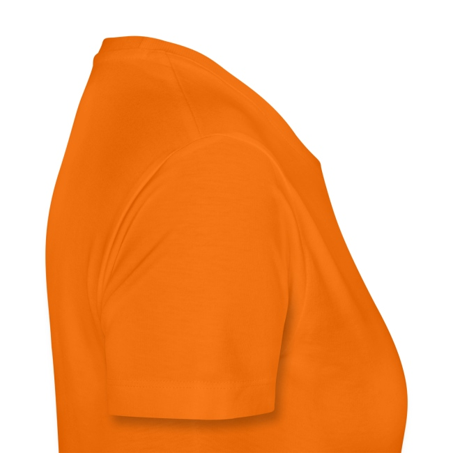 Frauen Basis-T-Shirt Orange Flimmerfreunde