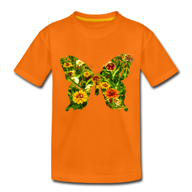 Orange butterfly Kids' Shirts