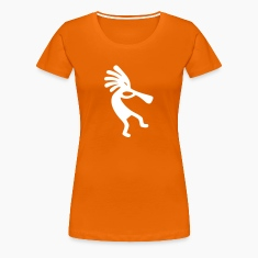 Orange Kokopelli Women's T-Shirts