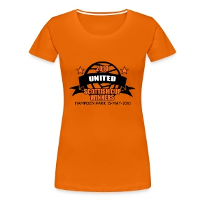 D United 2010 Scottish Cup - Women's Premium T-Shirt
