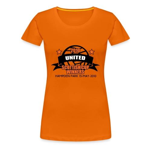 D United 2010 Scottish Cup - Women's Premium T-Shirt