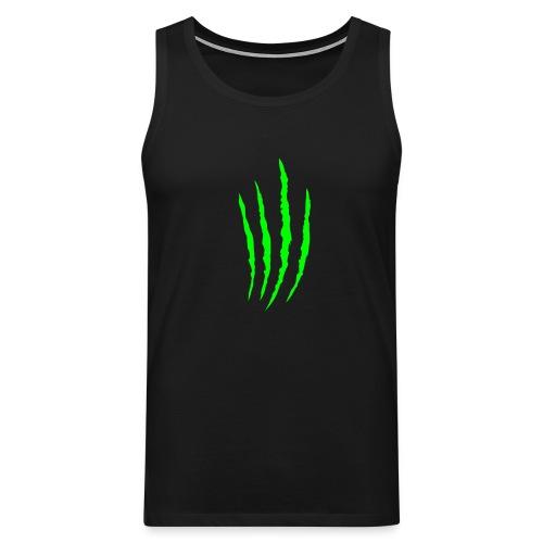 Raapaleet hihaton t-paita (vihreä) - Miesten premium hihaton paita