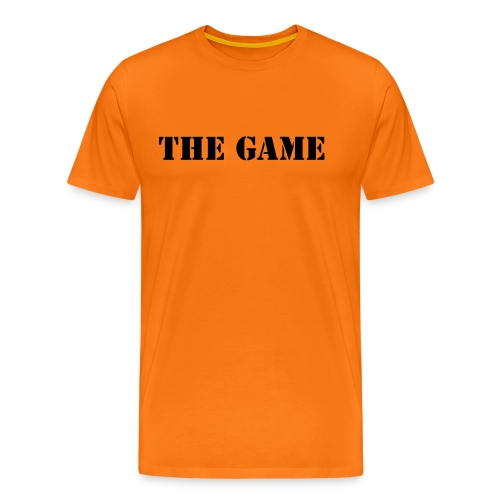 The Game Tee (black text) - Men's Premium T-Shirt
