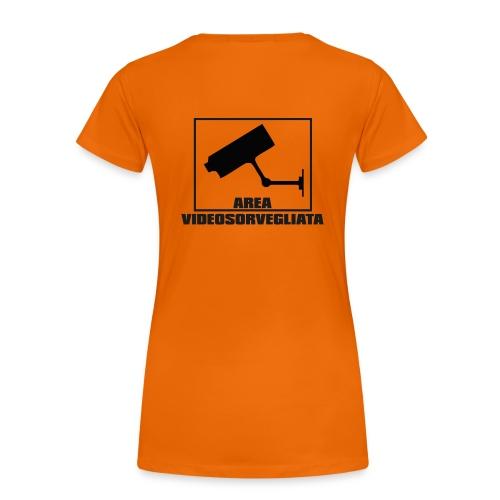 Area Videosorvegliata (schiena) - Maglietta Premium da donna