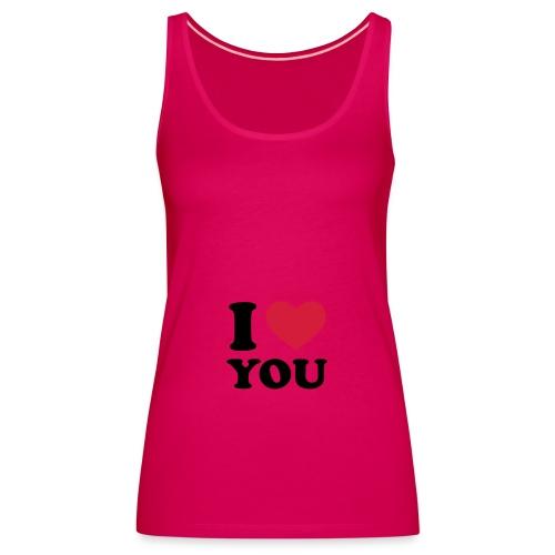 Vaaleanpunainen I Love You toppi - Naisten premium hihaton toppi