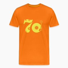 Golden orange Seventies 70 Men's T-Shirts