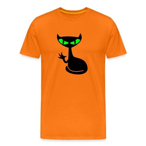 Catfight - orange shirt1 - Männer Premium T-Shirt