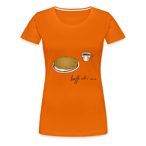 Kaffitrøya01, jente - Premium T-skjorte for kvinner