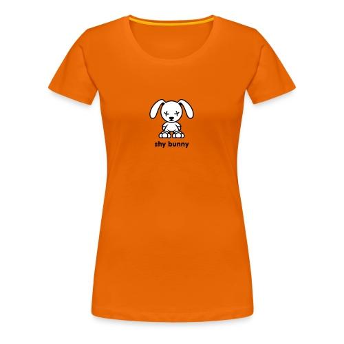 shy bunny - Frauen Premium T-Shirt