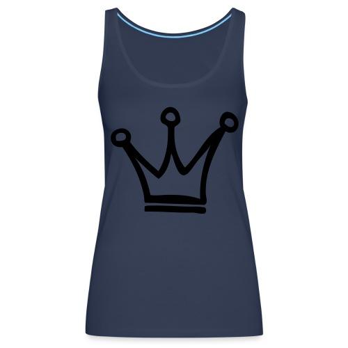 the king. - Naisten premium hihaton toppi