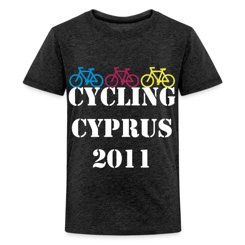 Teenage Premium T-Shirt - Charity Cycling Cyprus Hospice Fundraising Bright Funky Original 2011 Paul Clarke Kim Morris Paphos