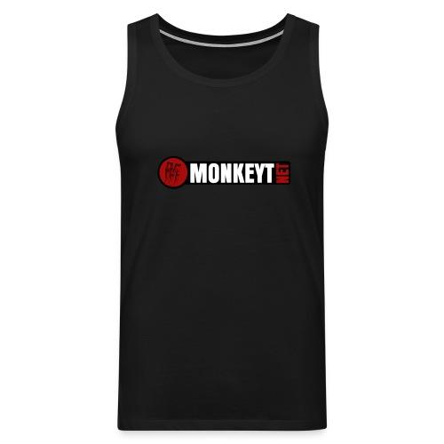 Monkeyt.net Hihaton paita logolla (Saa valita värin) - Miesten premium hihaton paita