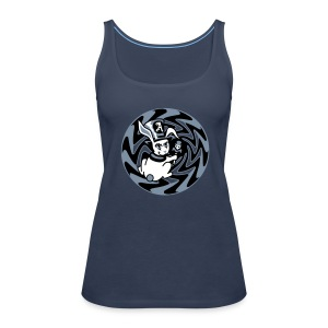 Rabbit Hole-Silver - Women's Premium Tank Top