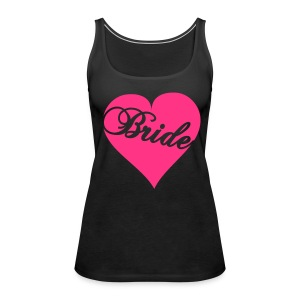 Tank Top with Heart Bride logo on front - Women's Premium Tank Top
