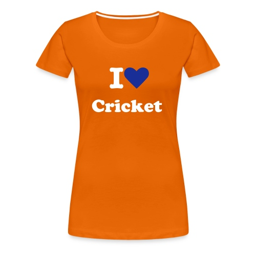 I love Cricket - Official Supporter Dutch Cricket - Vrouwen Premium T-shirt