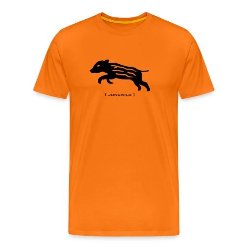 Herren Shirt Wildschwein Ferkel Jungwild schwarz Tiershirt Shirt Tiermotiv - Männer Premium T-Shirt