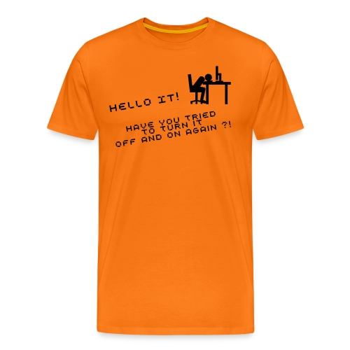 Hello IT!  - Männer Premium T-Shirt