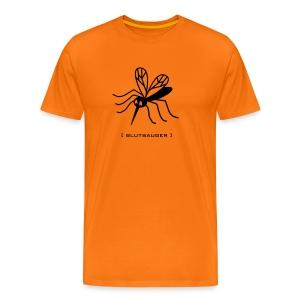 Herren Shirt Mücke Moskito Blutsauger schwarz Tiershirt Shirt Tiermotiv - Männer Premium T-Shirt