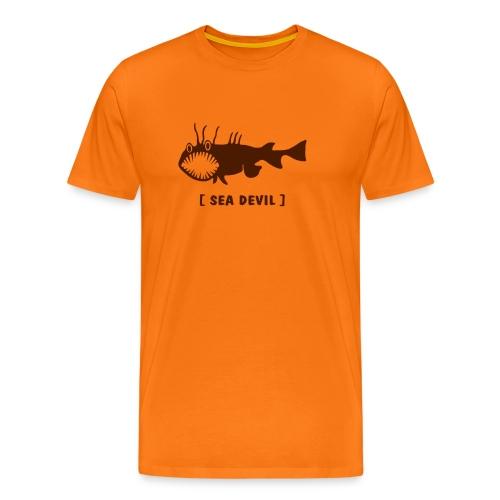 Herren Shirt Fisch Raubfisch Seeteufel Sea Devil braun Tiershirt Shirt Tiermotiv - Männer Premium T-Shirt