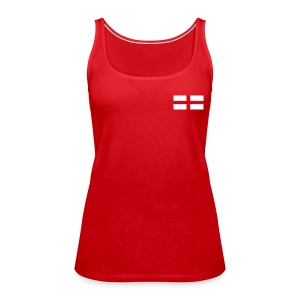 Women's shoulder free sleeve less top with England flag Logo - Women's Premium Tank Top
