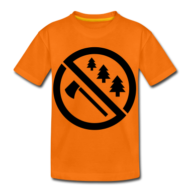 save the forest environment Kids' Shirts