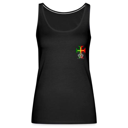 t-shirt croix Portugal  - Débardeur Premium Femme