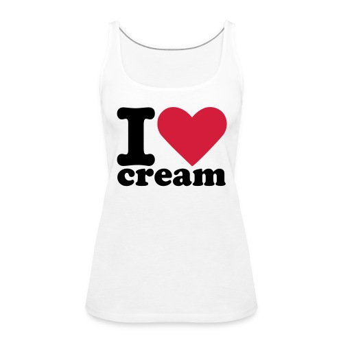 Cream Love Tank Top (Girls) - Frauen Premium Tank Top