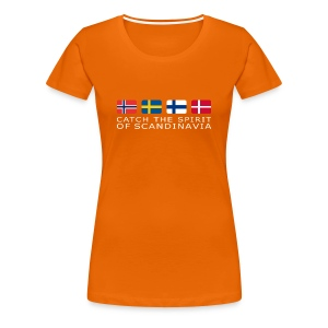 Women's T-Shirt CATCH THE SPIRIT OF SCANDINAVIA white-lettered - Women's Premium T-Shirt