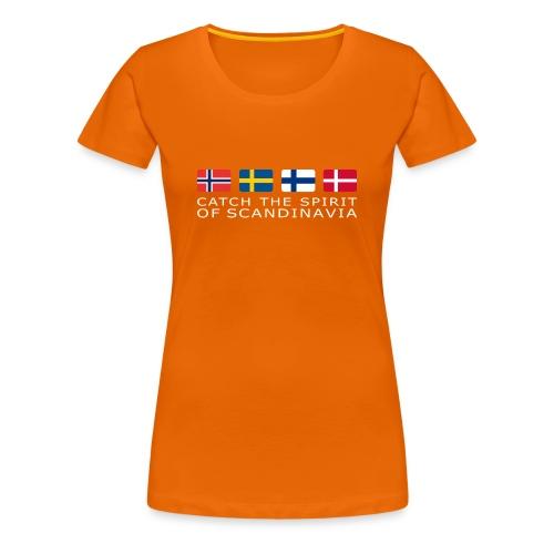 Women's T-Shirt CATCH THE SPIRIT OF SCANDINAVIA white-lettered - Women's Premium T-Shirt