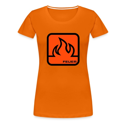 ELEMENTS - FIRE (WOMENS TIGHT FITTED T-SHIRT) - Women's Premium T-Shirt