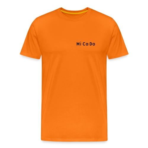 T-Shirt (m.) orange, Schrift schwarz - Männer Premium T-Shirt