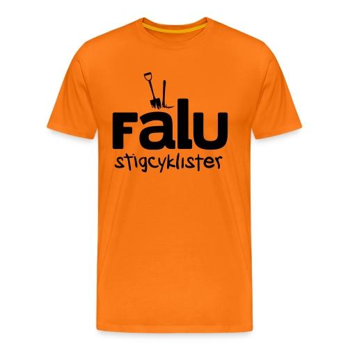 T-Shirt Herr, svart tryck - Premium-T-shirt herr
