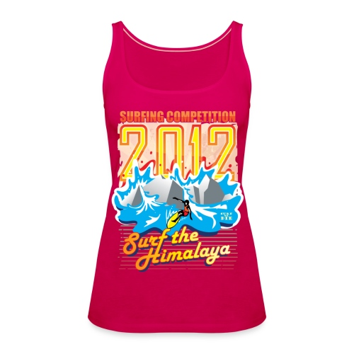 Surf the Himalaya - Vrouwen Premium tank top