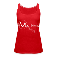 Tops ~ Women's Premium Tank Top ~ Muffens Media singlet: Red