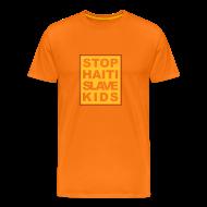 T-Shirts ~ Männer Premium T-Shirt ~ Mann T-Shirt Stop haiti slave kids 04© by kally ART®
