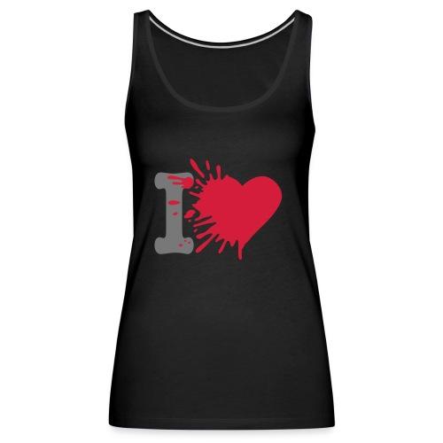 I heart vest top - Women's Premium Tank Top