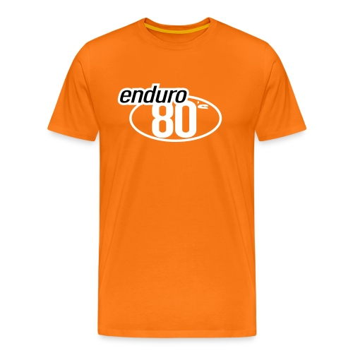 Enduro 80's orange - T-shirt Premium Homme