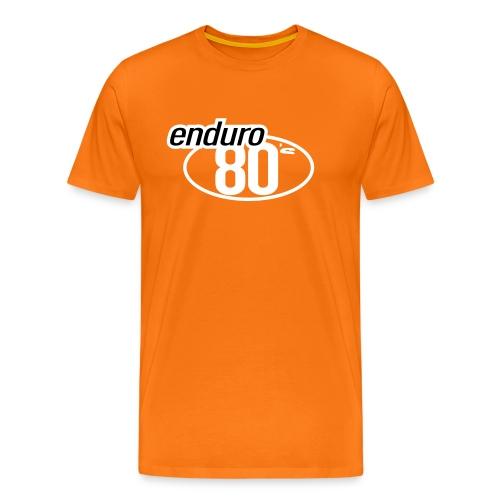 Enduro 80's orange - T-shirt Premium Homme