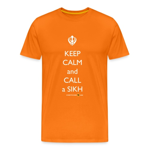 Men's Keep Calm & Call a Sikh - Men's Premium T-Shirt