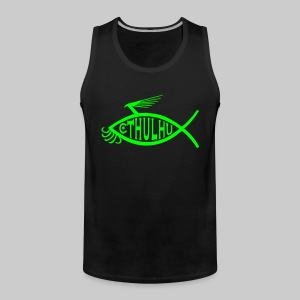 MSM1: Cthulhu-Fish-Emblem (monochrome) - Men's Premium Tank Top