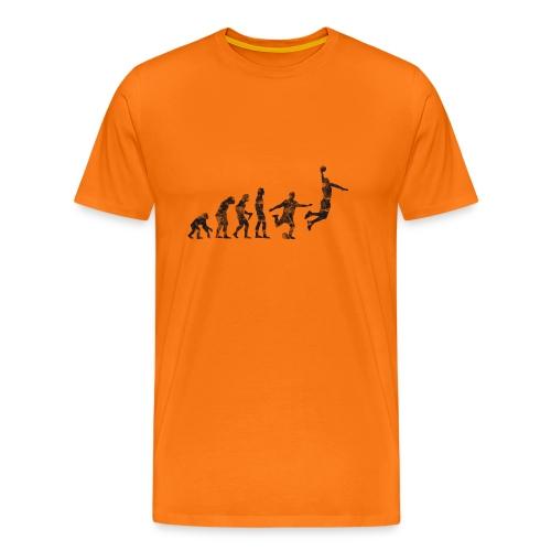 Basketball Evolution, Vintage, Used Look - Männer Premium T-Shirt