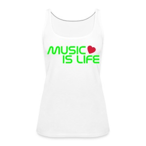 Music is life - Dames - Vrouwen Premium tank top