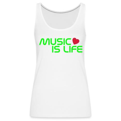 Music is life - Dames - Vrouwen Premium tank top