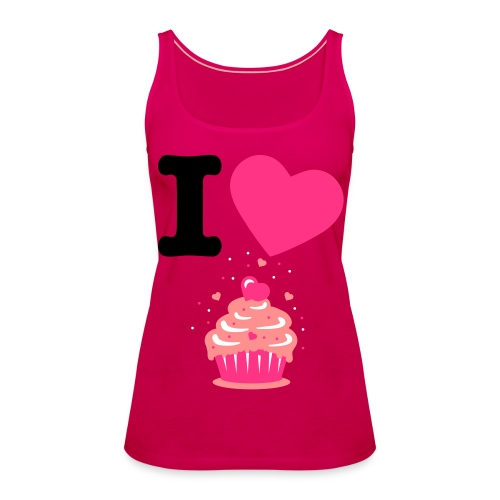 I Love Muffins - Frauen Premium Tank Top