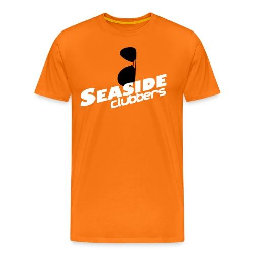 Seaside Clubbers Logo + Sonnenbrille - Männer Premium T-Shirt